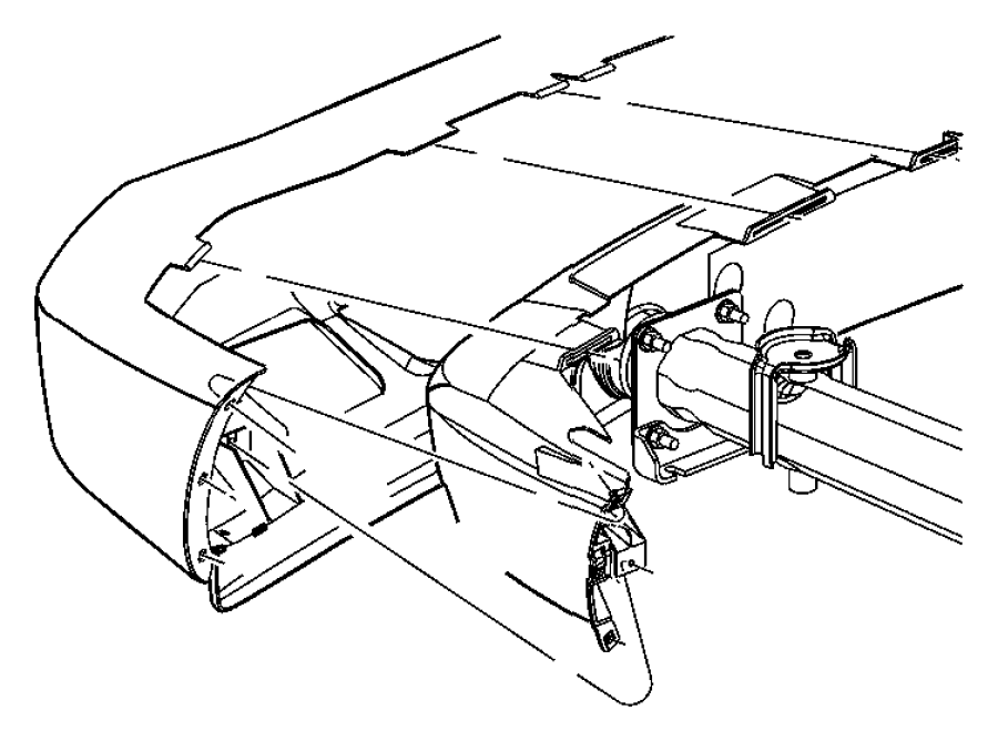 2006 Dodge Durango Beam. Front. Bumper, mopar, fascia