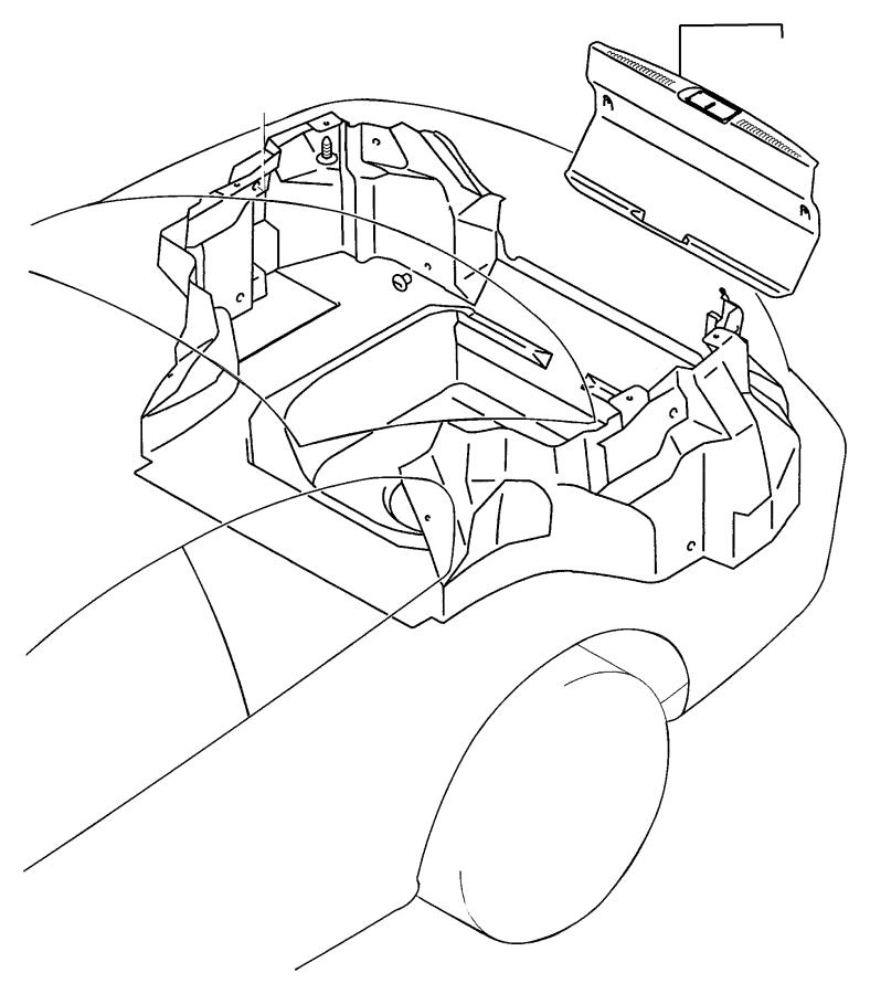 2003 Chrysler Sebring Liner kit. Cargo. Black. Trim, block