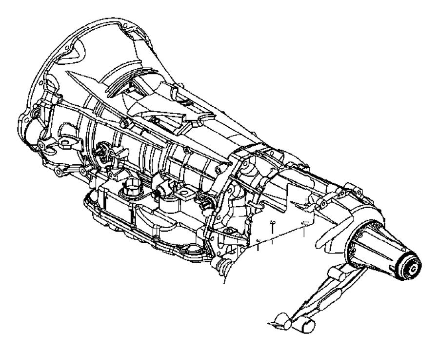 2009 Chrysler Aspen Bracket. Transmission mount. Engine