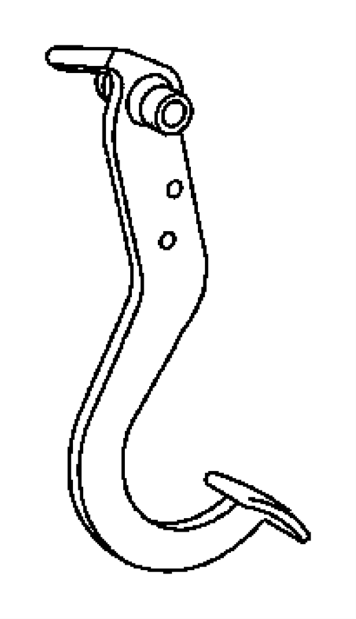 Dodge Journey Nut. Hex flange lock. M8x1.25. Front wiper
