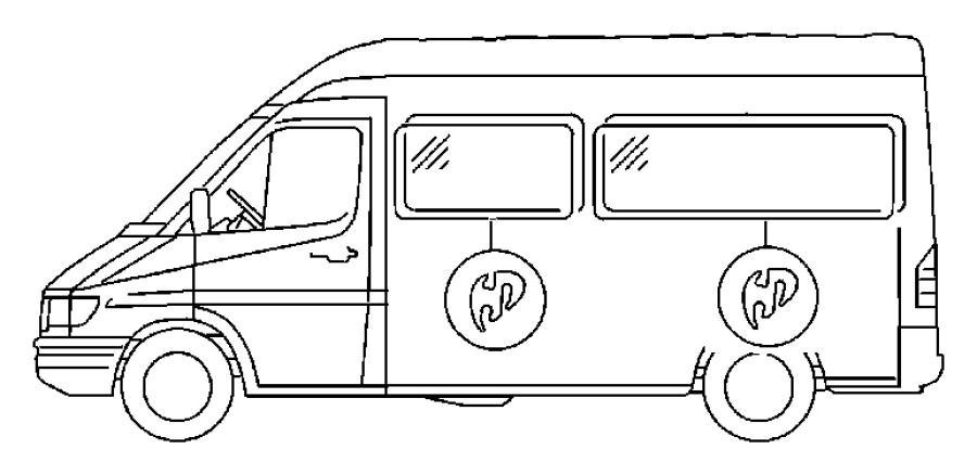 Dodge SPRINTER Glass. Bodyside window. Privacy, tint