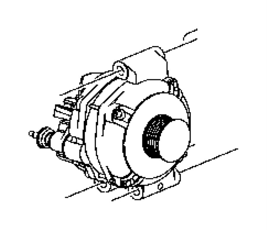 2007 Chrysler 300 Generator. Engine. [140 amp alternator