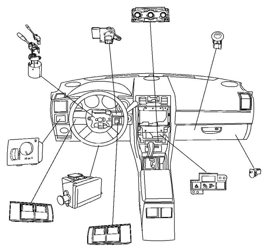 2010 Dodge Viper Wiring. A/c control head. Instrument