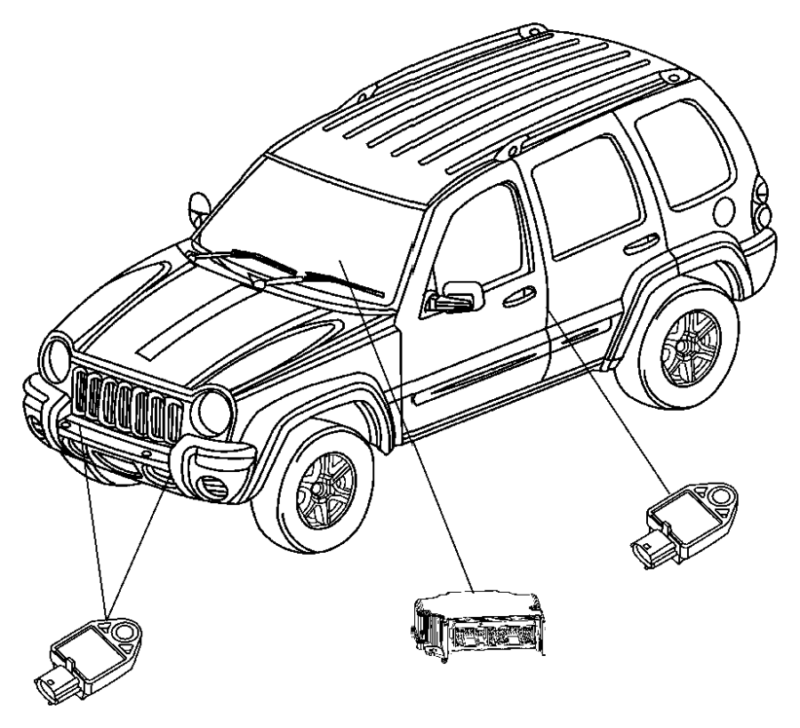 2004 Jeep Liberty Module. Occupant restraint. Air, bags