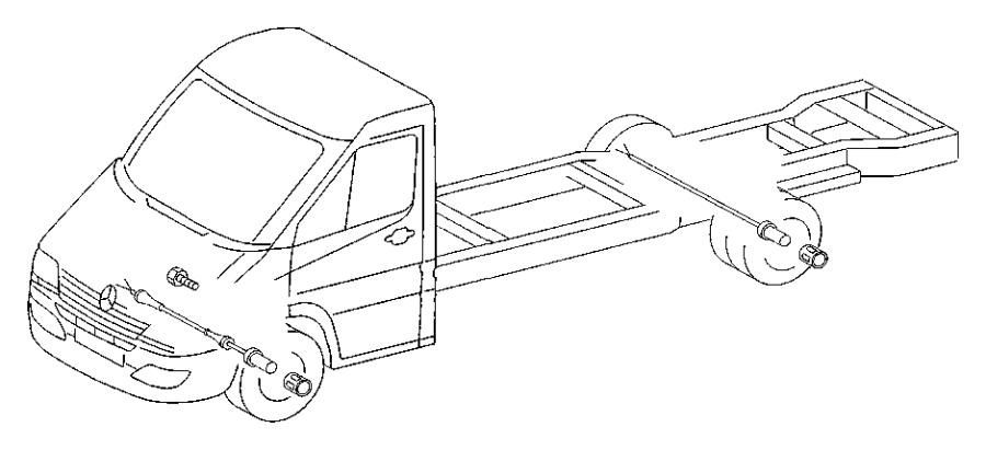 Dodge SPRINTER Sensor. Wheel speed. Order, brakes, lock
