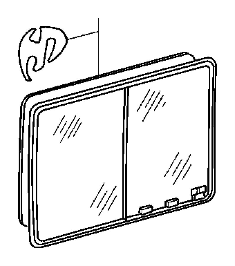 Dodge SPRINTER Weatherstrip. Cargo door glass, sliding