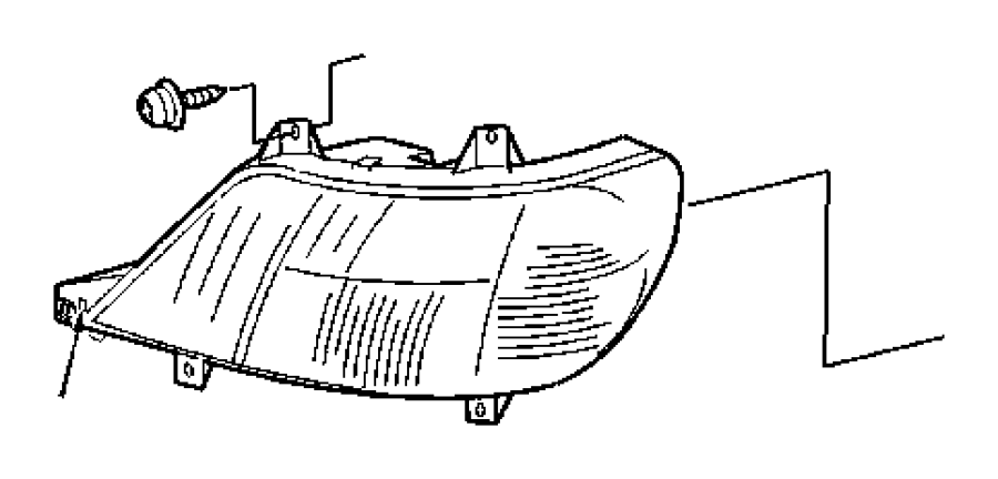 Dodge SPRINTER Lamp. Used for: headlamp park and turn