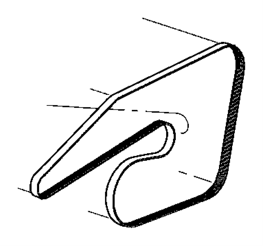 2010 Jeep Wrangler Belt. Accessory drive, serpentine. Hco