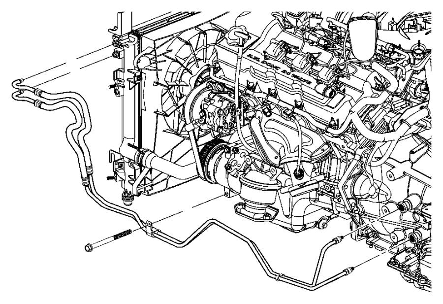 2008 Dodge Challenger Tube. Oil cooler. Valve