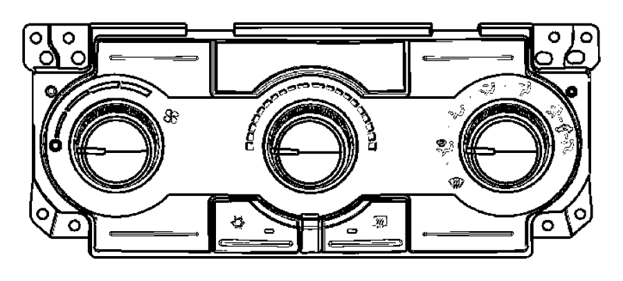 2005 Dodge Magnum Wiring. A/c control head. Instrument