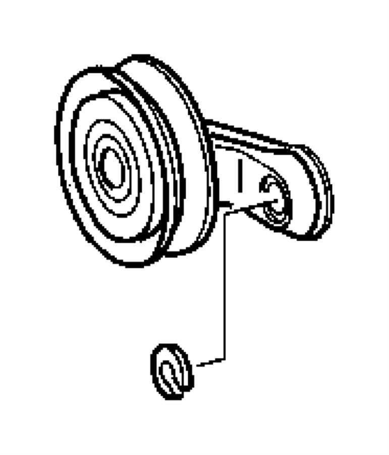 Dodge Sprinter 2500 Bracket. Idler pulley. Conditioning
