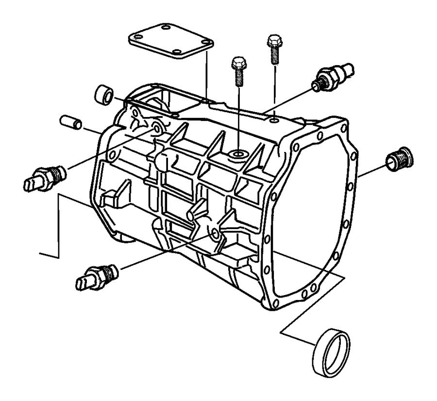 2004 Dodge Ram 2500 Case. Transmission. Clutch, extension