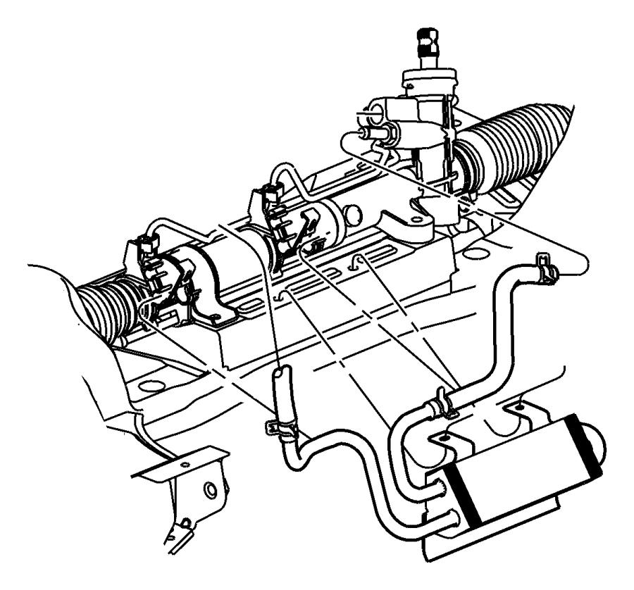 Chrysler PT Cruiser Cooler. Power steering. Right hand
