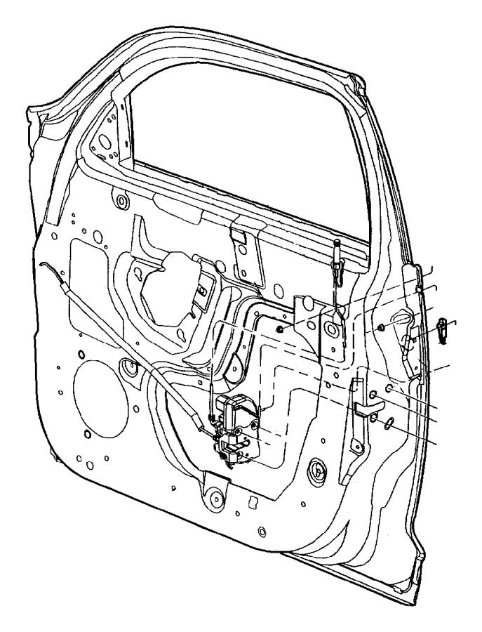 Chrysler PT Cruiser Latch. Front door. Left. Manual. Locks
