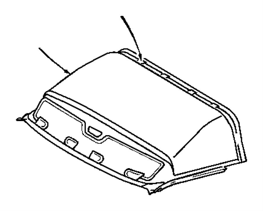 Dodge SPRINTER Headliner. Front. With sliding door [cargo
