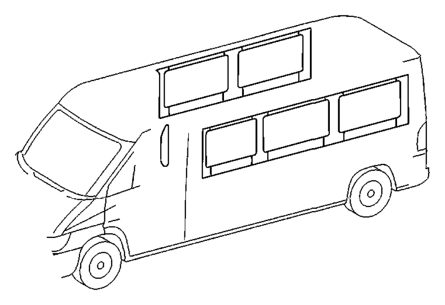 Dodge SPRINTER Cover. Rear window moulding. Left. Side