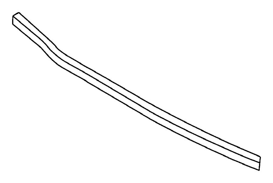 Dodge Grand Caravan Tube. Wiper drain module. Windshield