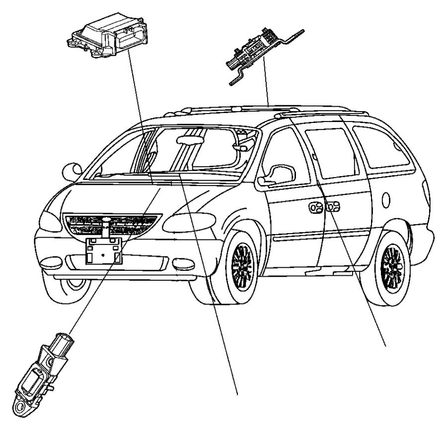 2007 Chrysler Town & Country Sensor. Side airbag impact