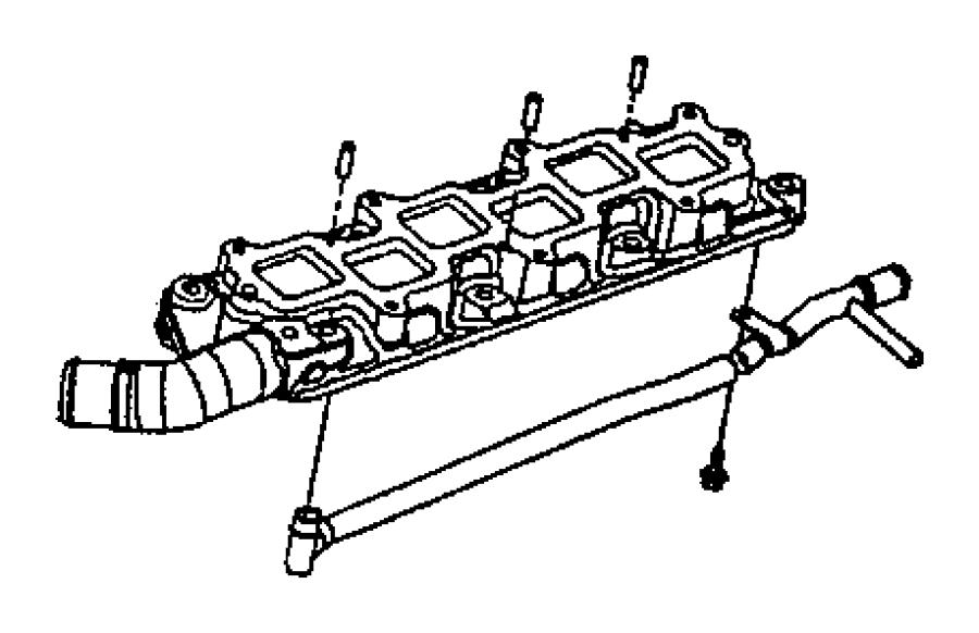 2002 Chrysler Concorde Tube. Heater feed. W/double bracket