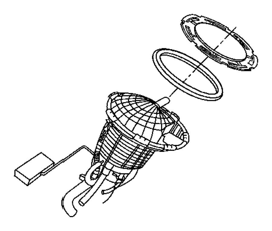 Jeep Grand Cherokee Ring. Lock. Fuel module. Nlq, nfk, xdc
