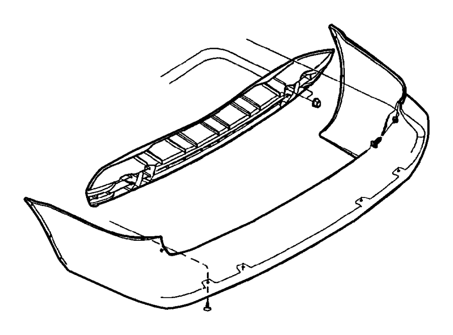 2007 Chrysler Town & Country Reinforcement. Rear bumper