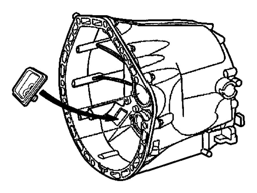 2004 Chrysler Crossfire Case. Transmission. Front, clutch