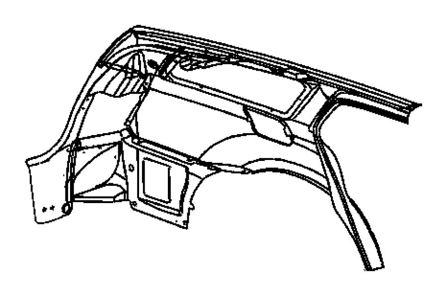 2006 Dodge Charger Panel. Body side aperture rear. Quarter