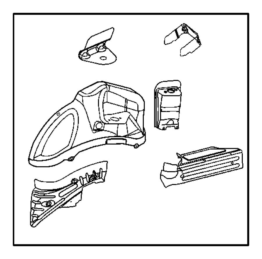 2013 Dodge Challenger Panel. Rear wheelhouse. Left