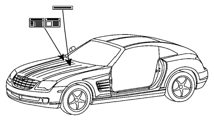 Chrysler Crossfire Label. Emission. S-mex. Market
