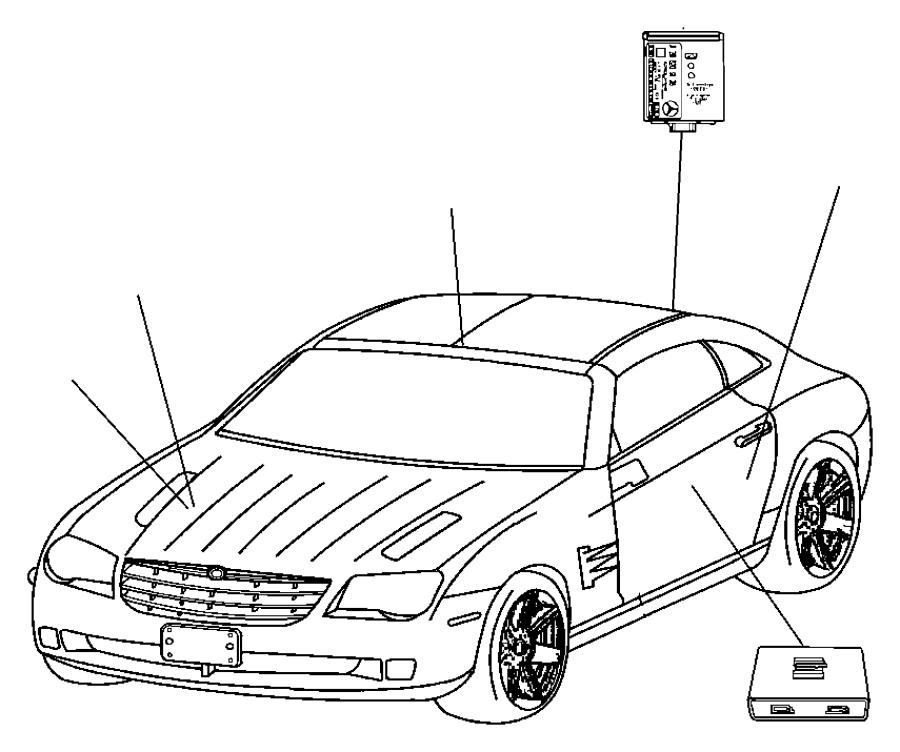 2005 Chrysler Crossfire Module, sensor. Air bag, air bag