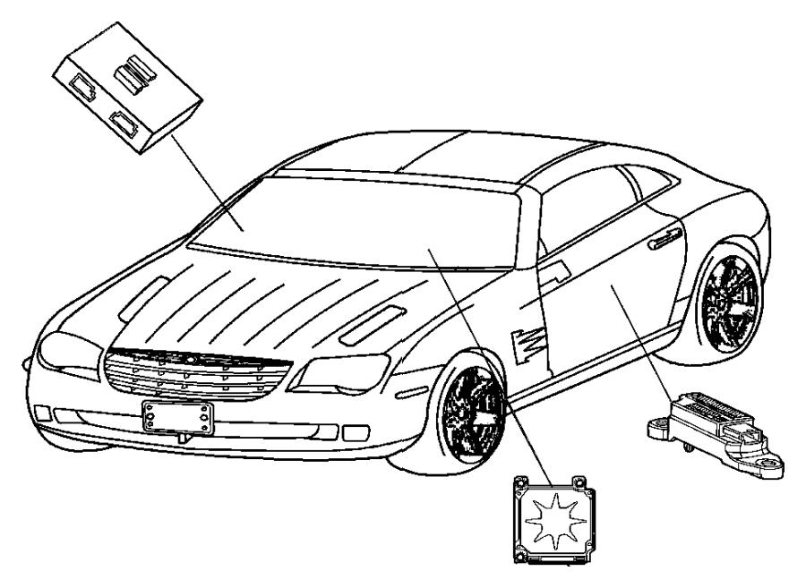 2004 Chrysler Crossfire Module. Air bag control. Passenger