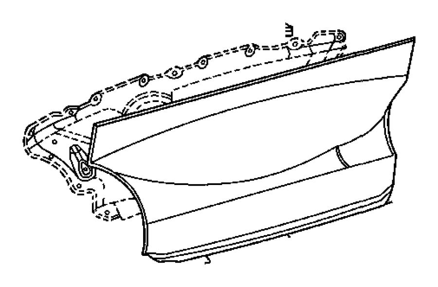 2005 Chrysler Crossfire Carpet. Rear bulkhead. [dd], [dr