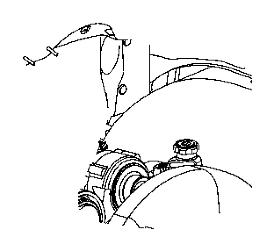 2005 Dodge Dakota Line. A/c discharge. Air, plumbing