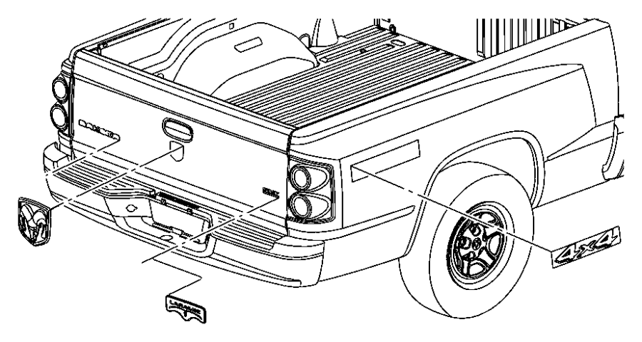 2011 Dodge Dakota Nameplate. [`dakota`], [dakota badge