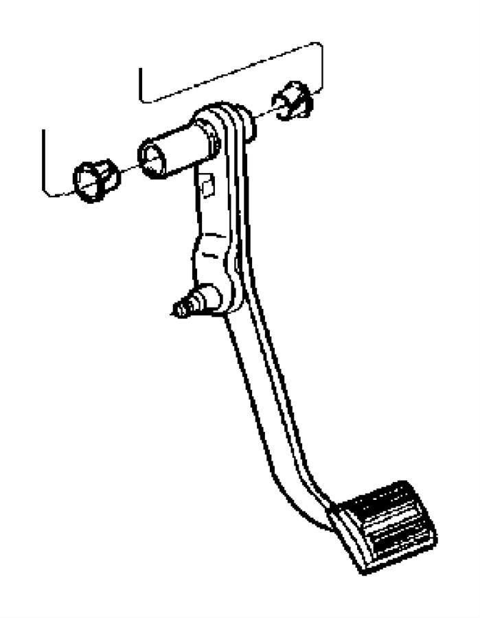 2008 Dodge Dakota Pedal, used for: pedal and pad. Brake