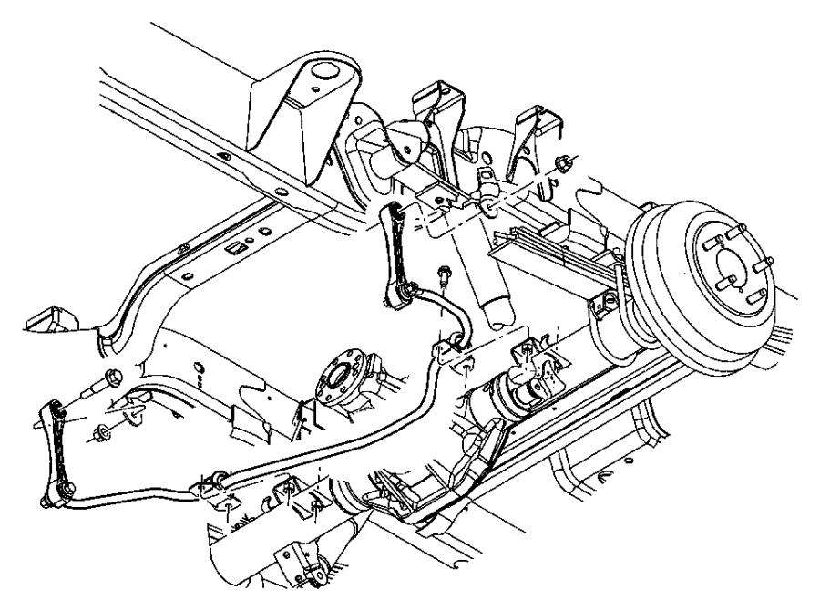 2006 Dodge Dakota Bar. Rear sway. Stabilizer, delete