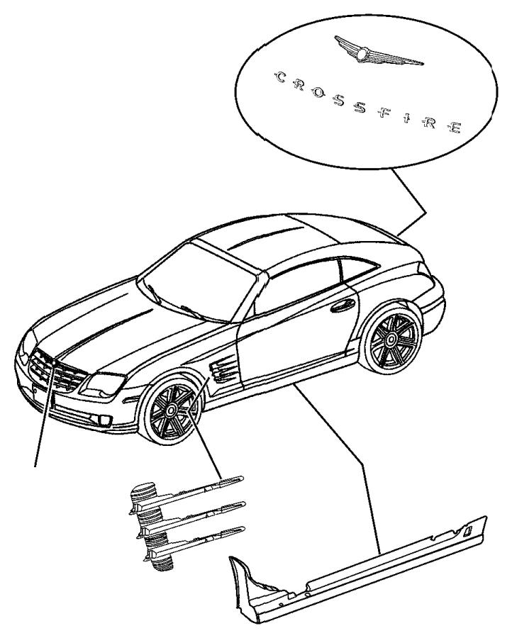 Chrysler Crossfire Molding. Windshield garnish. [41