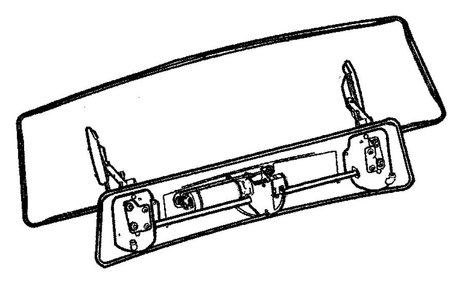 Chrysler Crossfire Plate. Spoiler base srt6. Crossfire