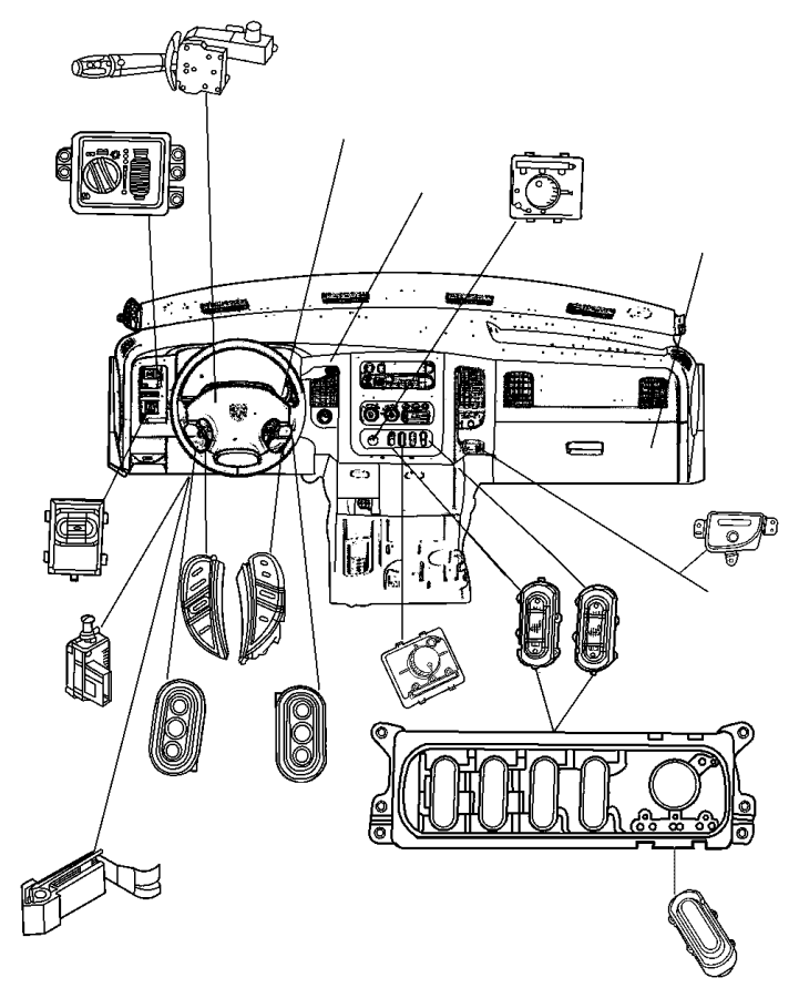 Dodge Journey Switch. Transfer case mode. [t/case-elec