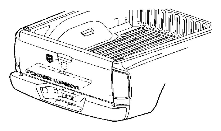 2008 Dodge Ram 2500 Nameplate. Tailgate. [[powerwagon