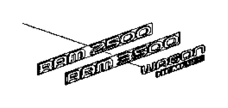 Dodge Ram 1500 Nameplate. [power wagon hemi 5.7 liter