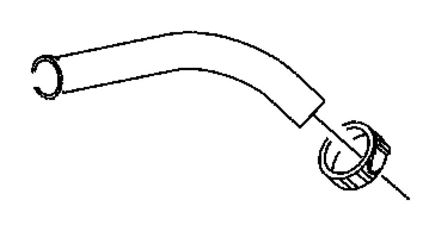 2011 Dodge Hose. Fuel filler. Gallon, tank, polyethylene