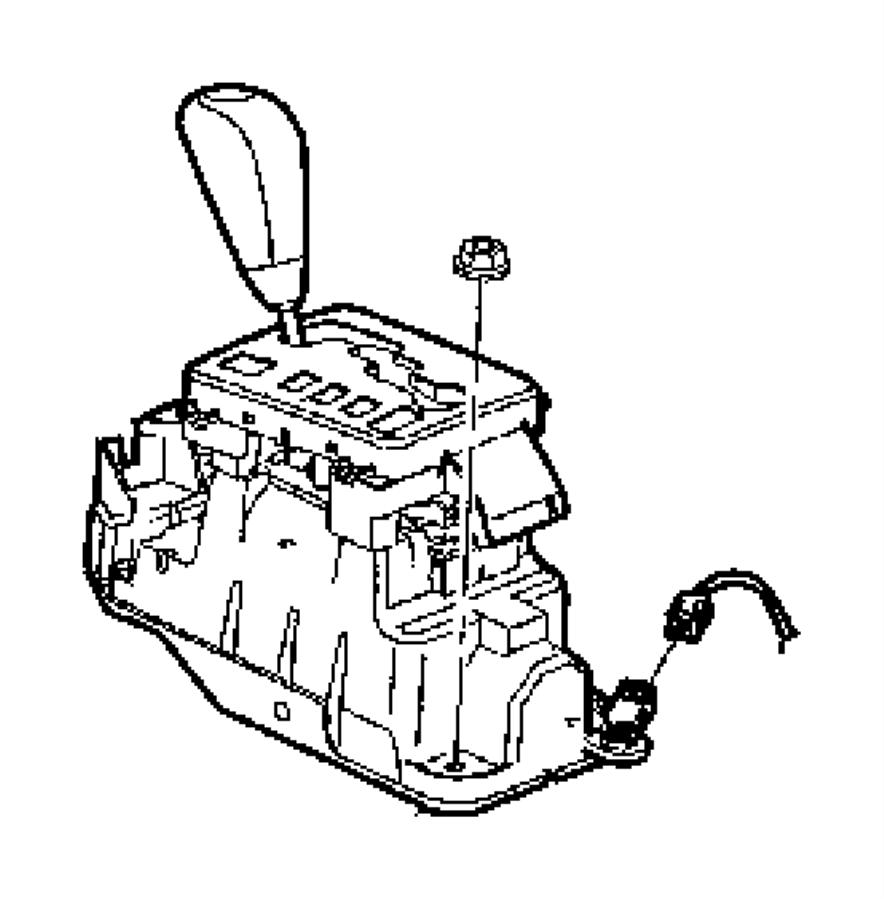 2005 Chrysler Pacifica Shifter. Transmission. Autostick