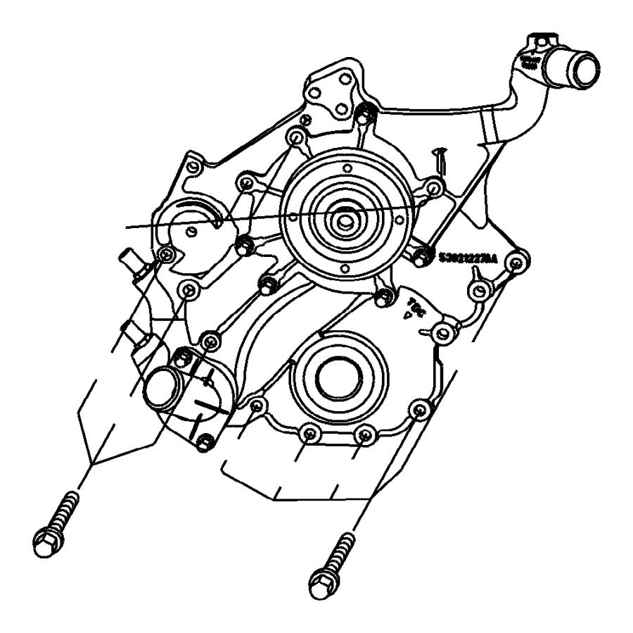 Dodge Durango Cover. Chain case, timing belt. Egk