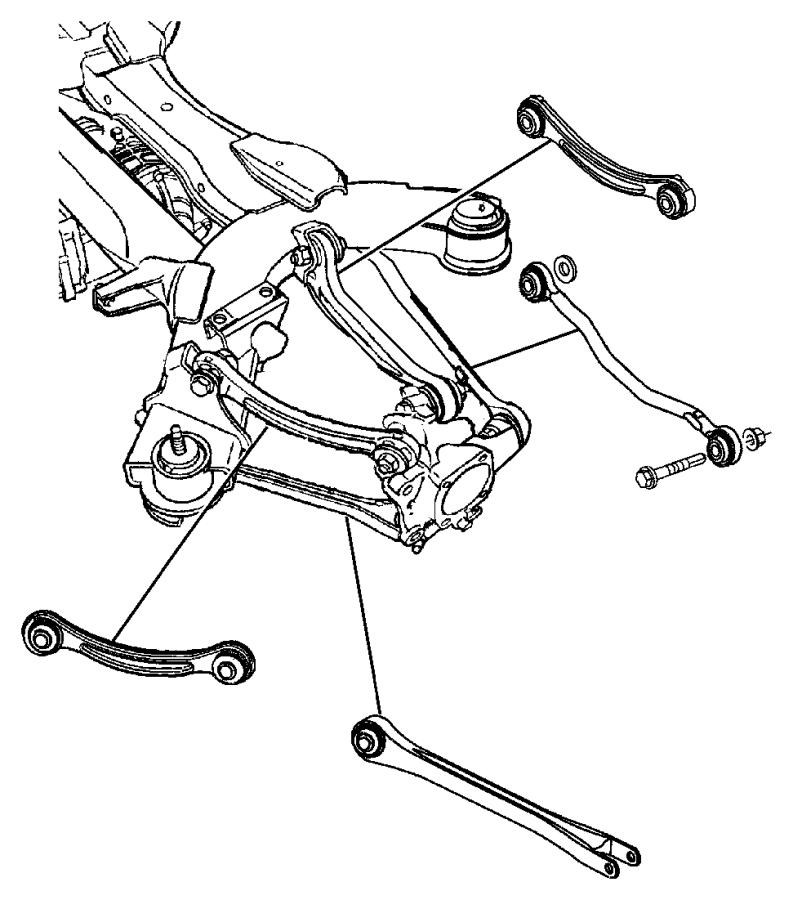 2004 Chrysler Pacifica Compression link. Suspension, rear
