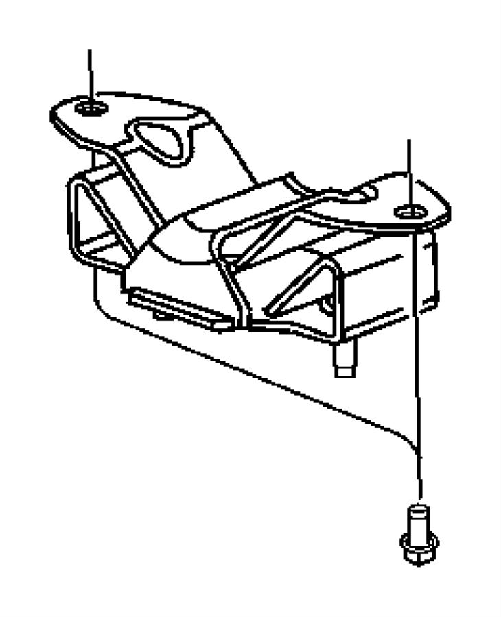 2003 Dodge Ram 1500 Bracket. Transmission mount. Engine