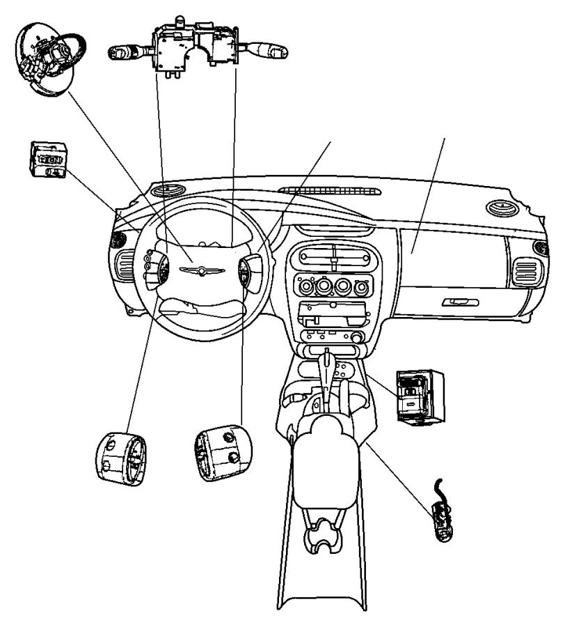 2003 Chrysler PT Cruiser Switch. Clutch starter interlock