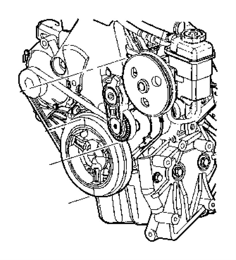 Chrysler PT Cruiser Belt. Alternator drive. Ulev