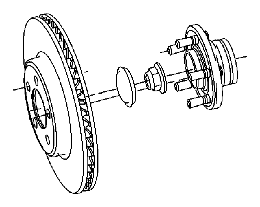 2009 Dodge Charger Used for: HUB AND BEARING. Brake. Right