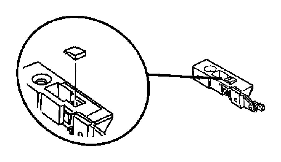 2005 Chrysler Crossfire Guide. Latch pin. Assembly, body